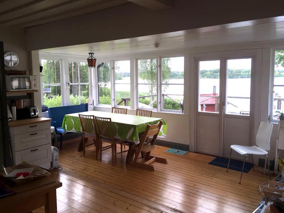 Cottage w sauna and private beach - Jönköping - Chalet