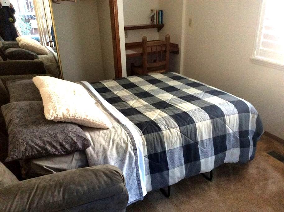 North bedroom full size bed. - Ukiah