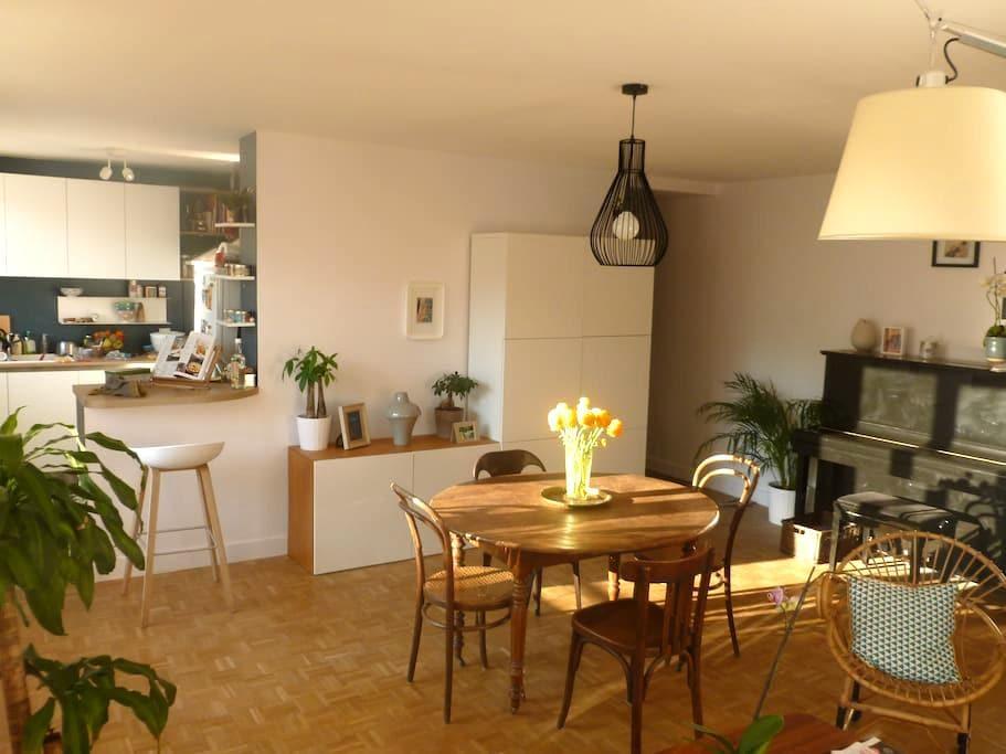 Bright&nice appt 7th arrd. central - Lyon - Apartamento