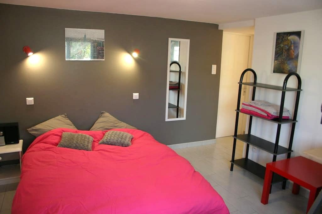 Jolie chambre + salon avec clic-clac, au calme - Montaigu - Casa