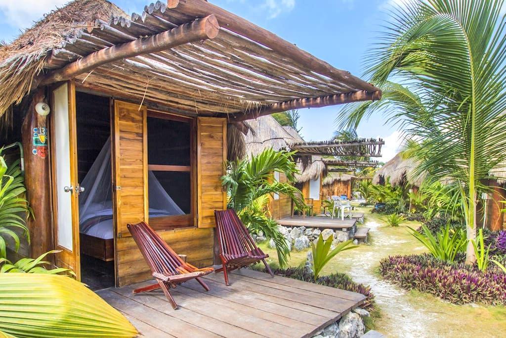 BlueKay: Oceanfront Cabanas - Mahahual - Kulübe