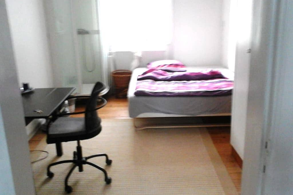 Room, double bed and shower for two - Kopenhagen
