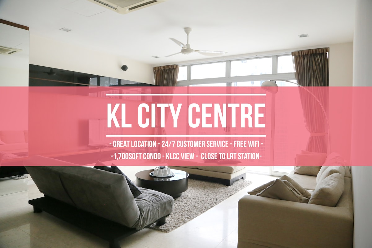 Luxurious 3R4B Condo at KLCC & LRT - Apartments for Rent in Kuala ...