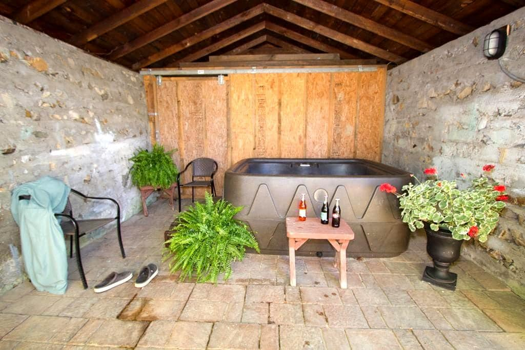 ROMANTIC COTTAGE~HOT TUB~IN TOWN~AT - Hot Springs - House
