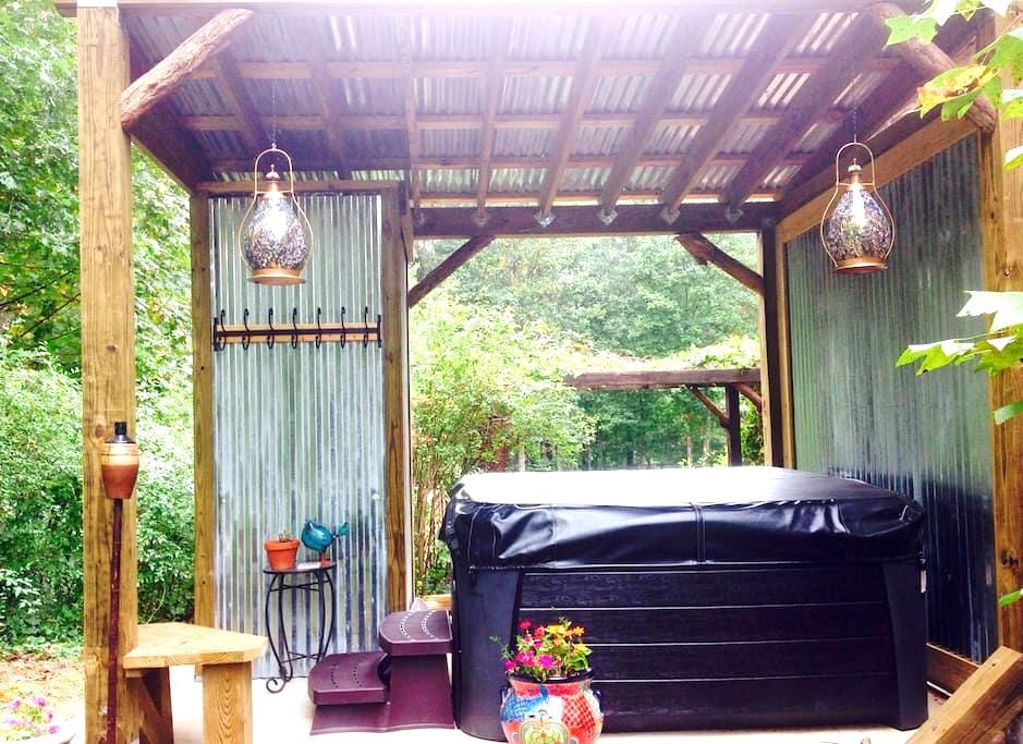 Rustic Artistic Charm with HOT TUB - Black Mountain - 公寓