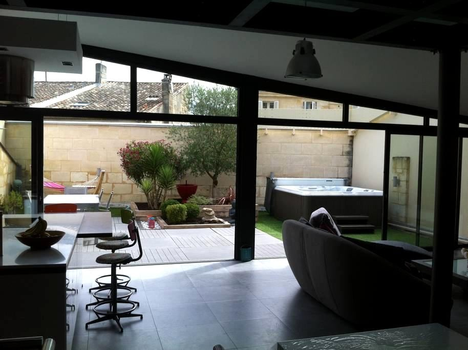 LOFT spa garage Libourne centre ville - Libourne - Loft