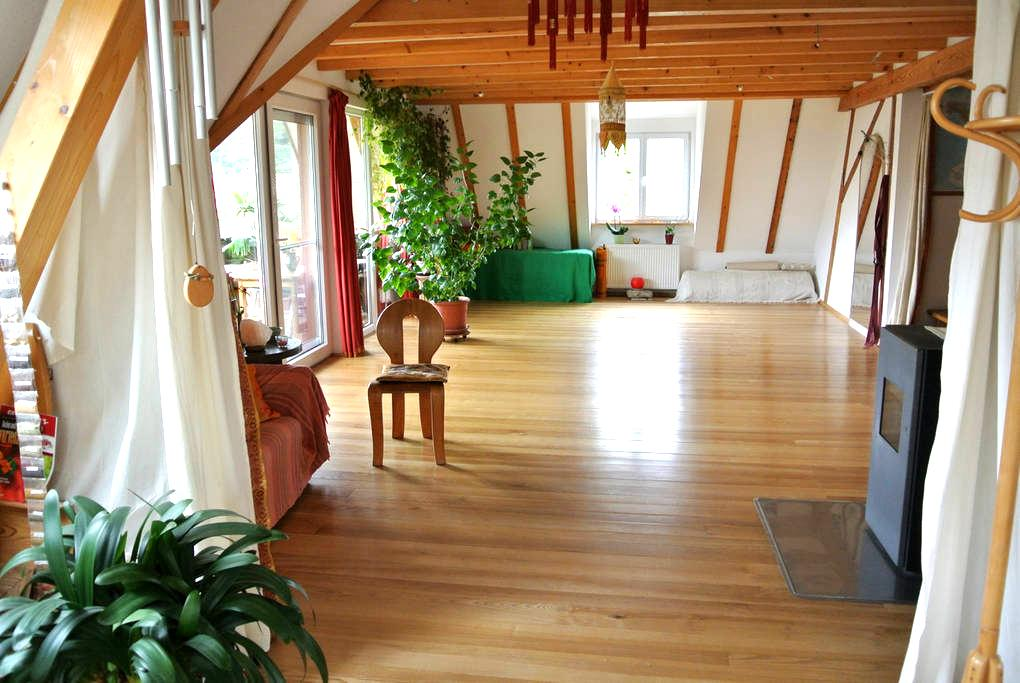 Zimmer in heller, gr. Wohnung (an den Wochenenden) - Kandern - Apartament