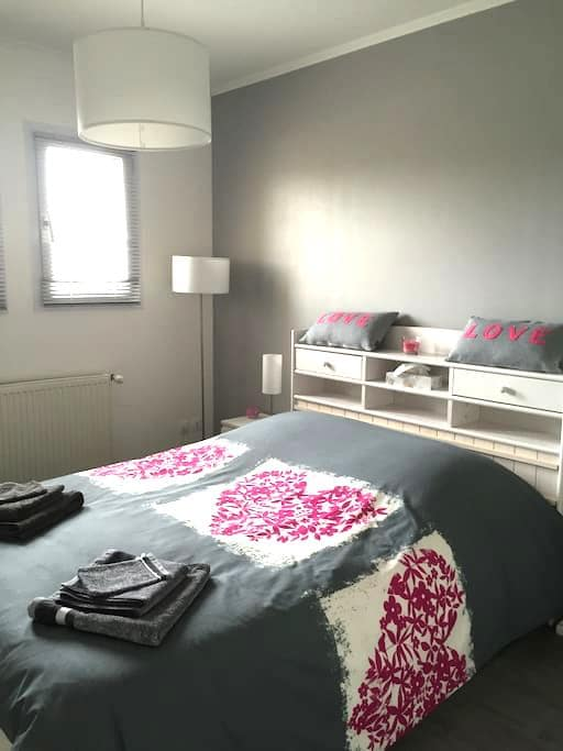 Chambre grise in Beaujolais. - Cercié - Bed & Breakfast