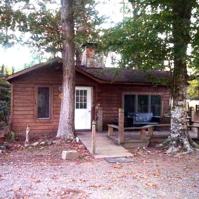 Wooded Cabin retreat on fresh water pond - Saluda - Mökki