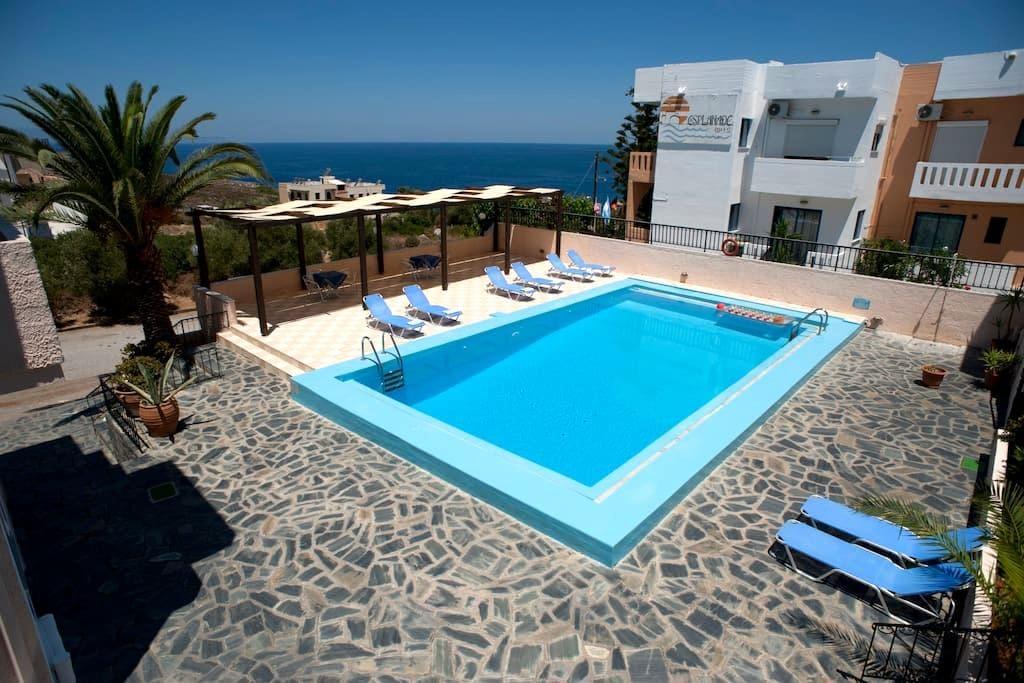 VillaAlexander spacious 2B Apt Pool - Kalathas