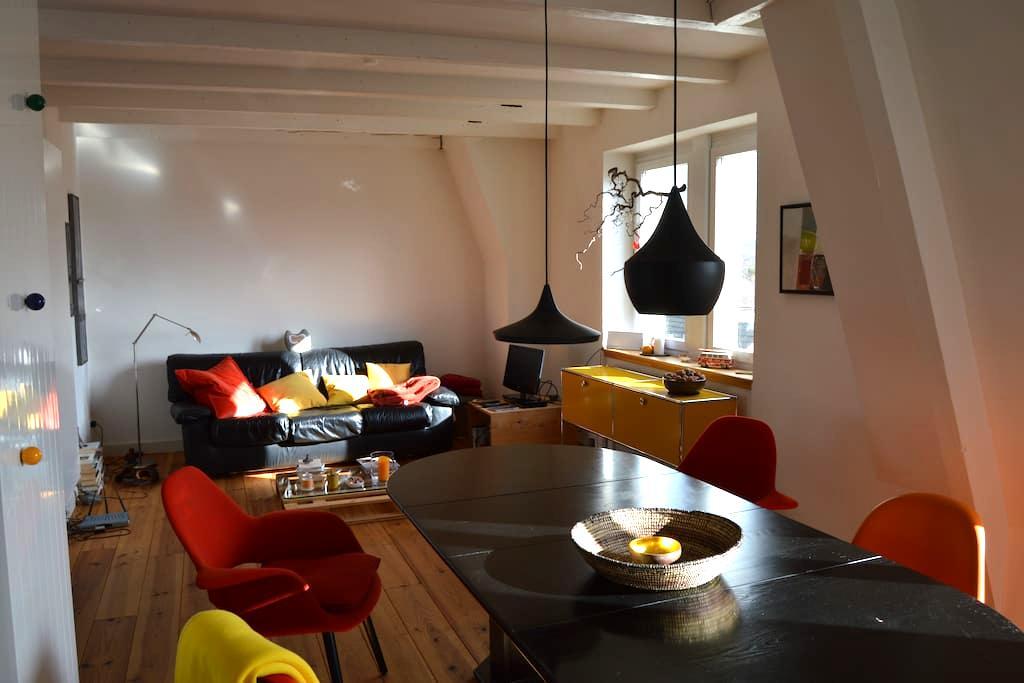 Sunny rooftop apartment F/CH/DE - Saint-Louis - Apartamento