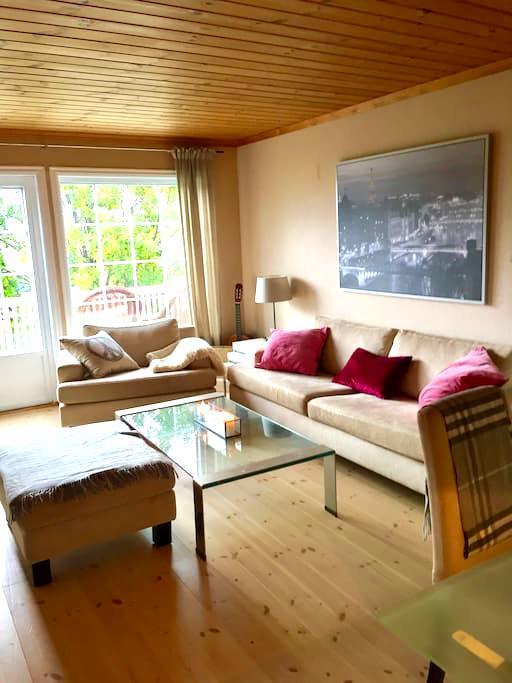 Flott leilighet i enebolig - Lier - Apartament