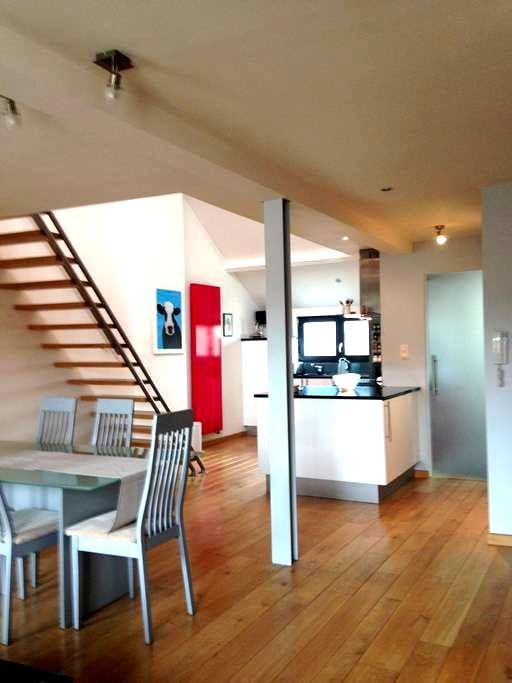 Modern duplex apartment 10 miles from Bruges. - Blankenberge - Departamento