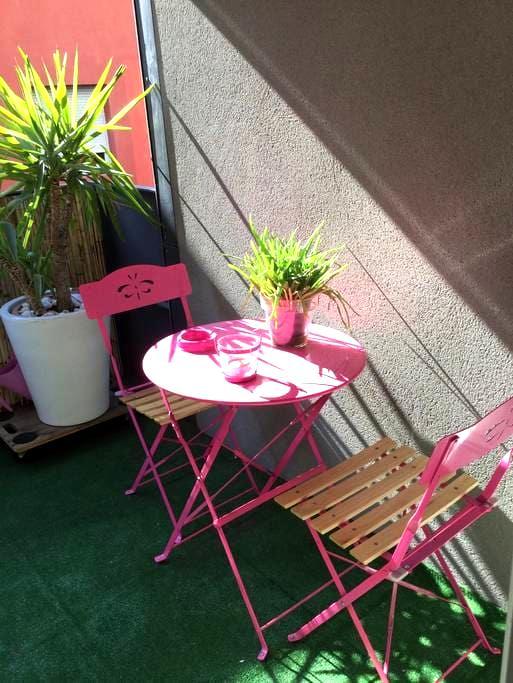 T2 neuf centre ville parking wifi - Perpignan - Apartament