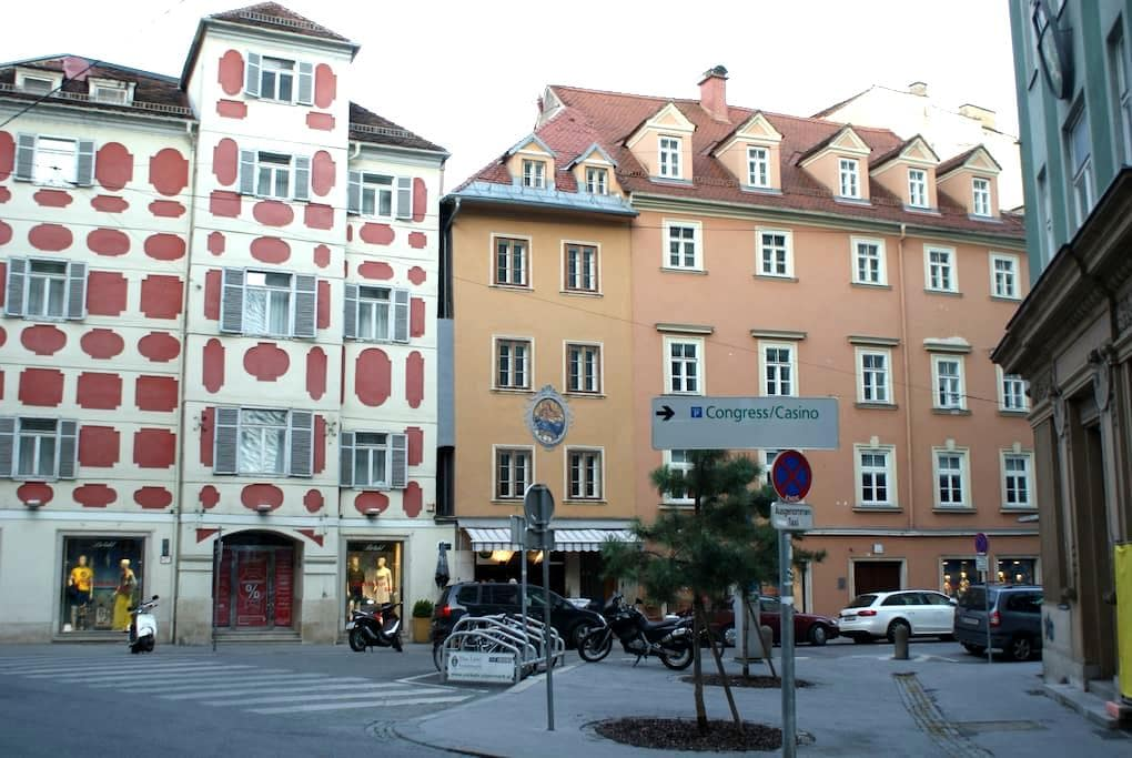 Historic City Center Flat no.1 air-conditioned - Graz - Apartamento