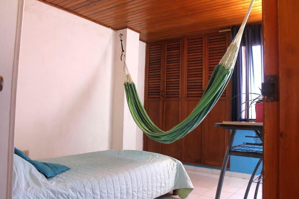 Habitación privada con hamaca en barrio El Prado - Barranquilla - Flat