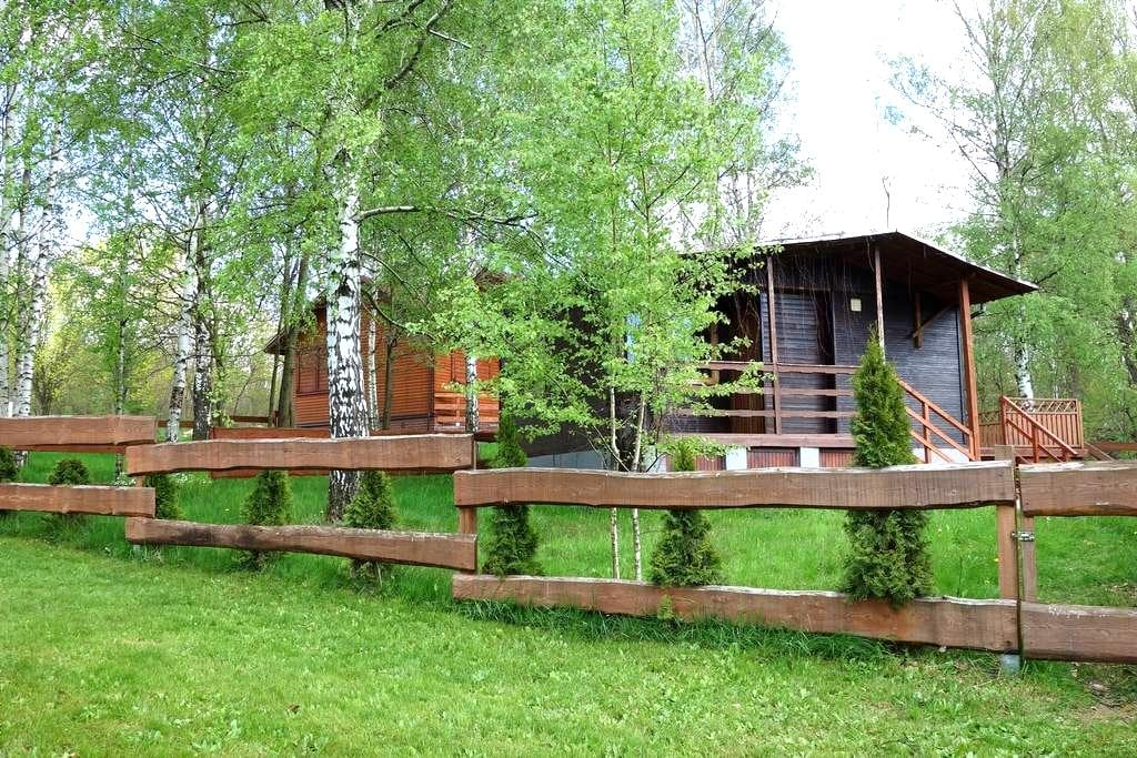 Nice cottage place on the lake. - Bożkowice - Casa de campo