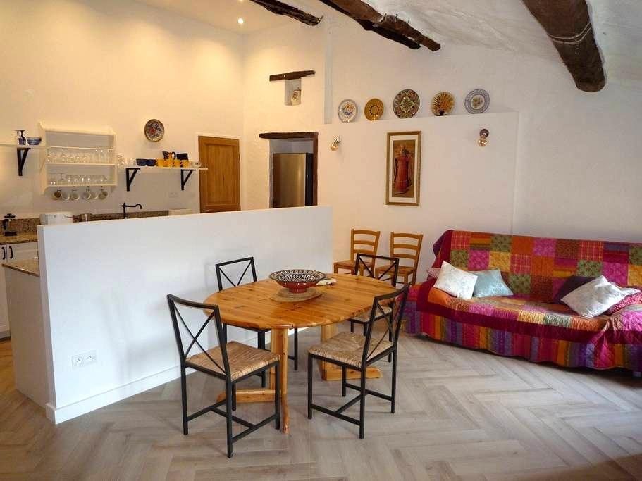 2-bed apartment in stone farmhouse close to Ceret - Reynes - Byt