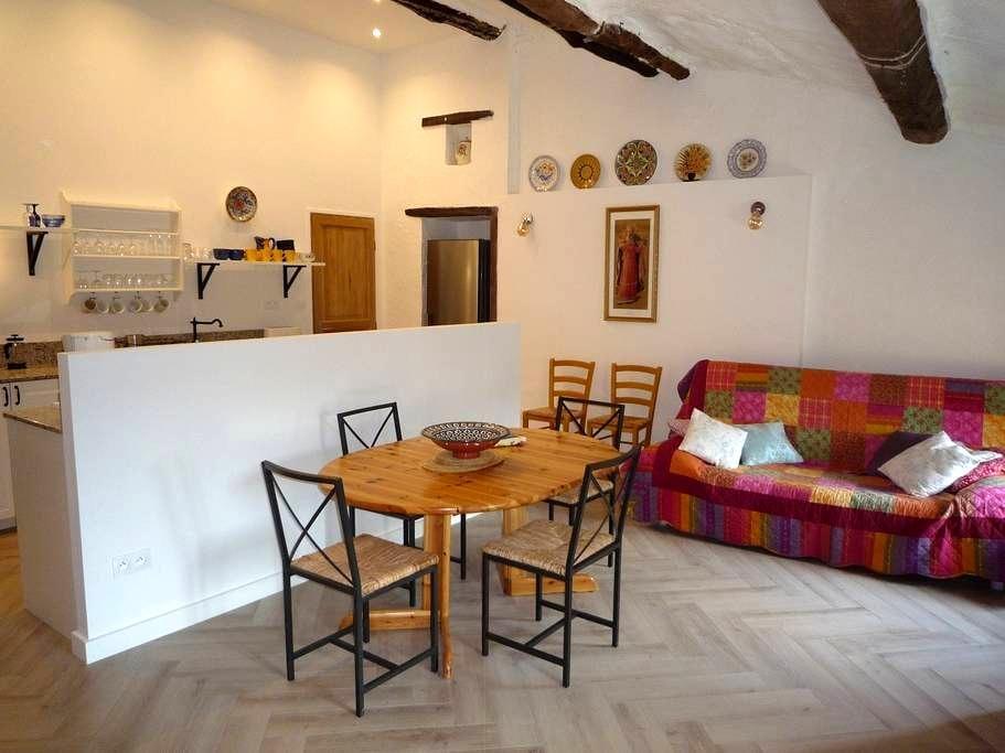 2-bed apartment in stone farmhouse close to Ceret - Reynes - Leilighet