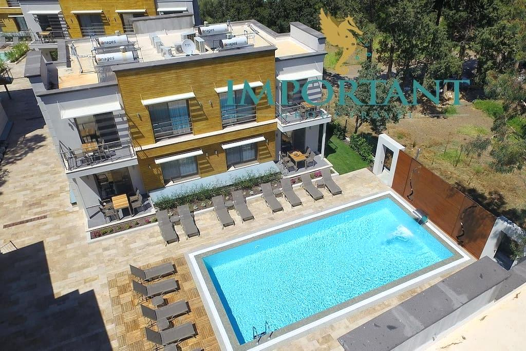 BD299 - 1Bdr Apart with shared pool Ortalent-Yahsi - Bodrum