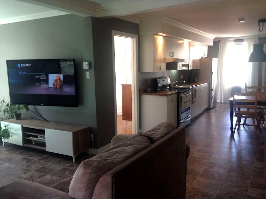Grand et chaleureux 4 1/2 - Beauceville - Lägenhet