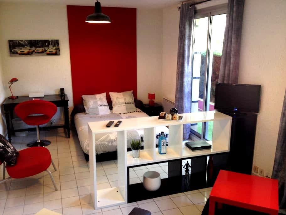 Studio calme 30m2 parking et terrasse - Clermont-Ferrand - 公寓