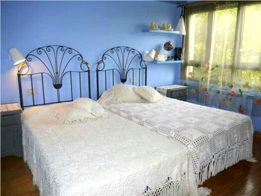 Habitación doble, casa con jardín cerca de Coruña - Oleiros - Dom