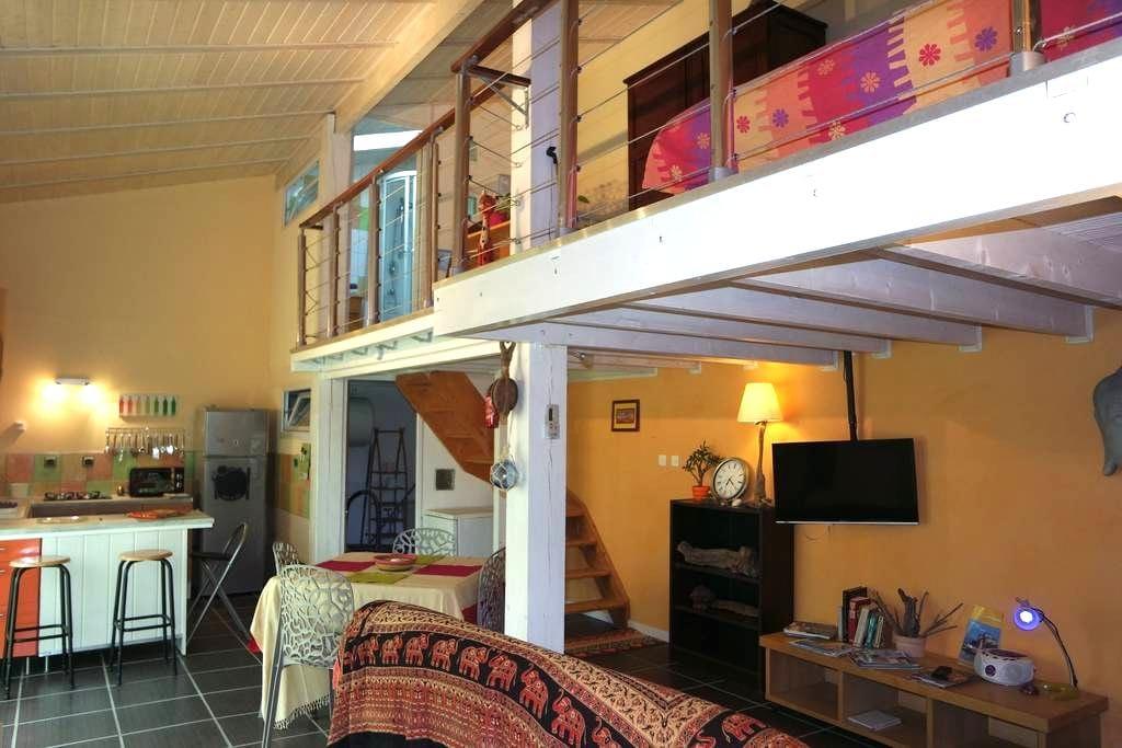 Charmant duplex tout confort sur jardin - Étaules - Vindsvåning