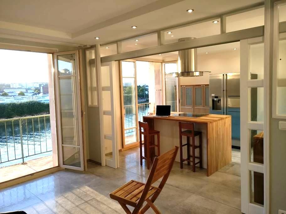 Flat 68m2 on Seine Border at 15min Orly and Paris - Choisy-le-Roi - Apartamento