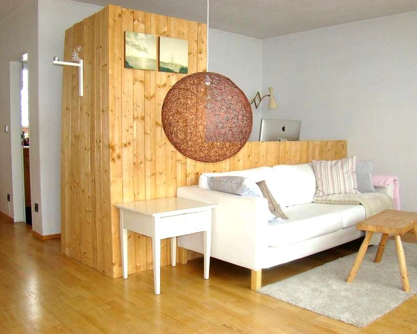 Superhelle Wohnung mit Dachterrasse - München - Apartment