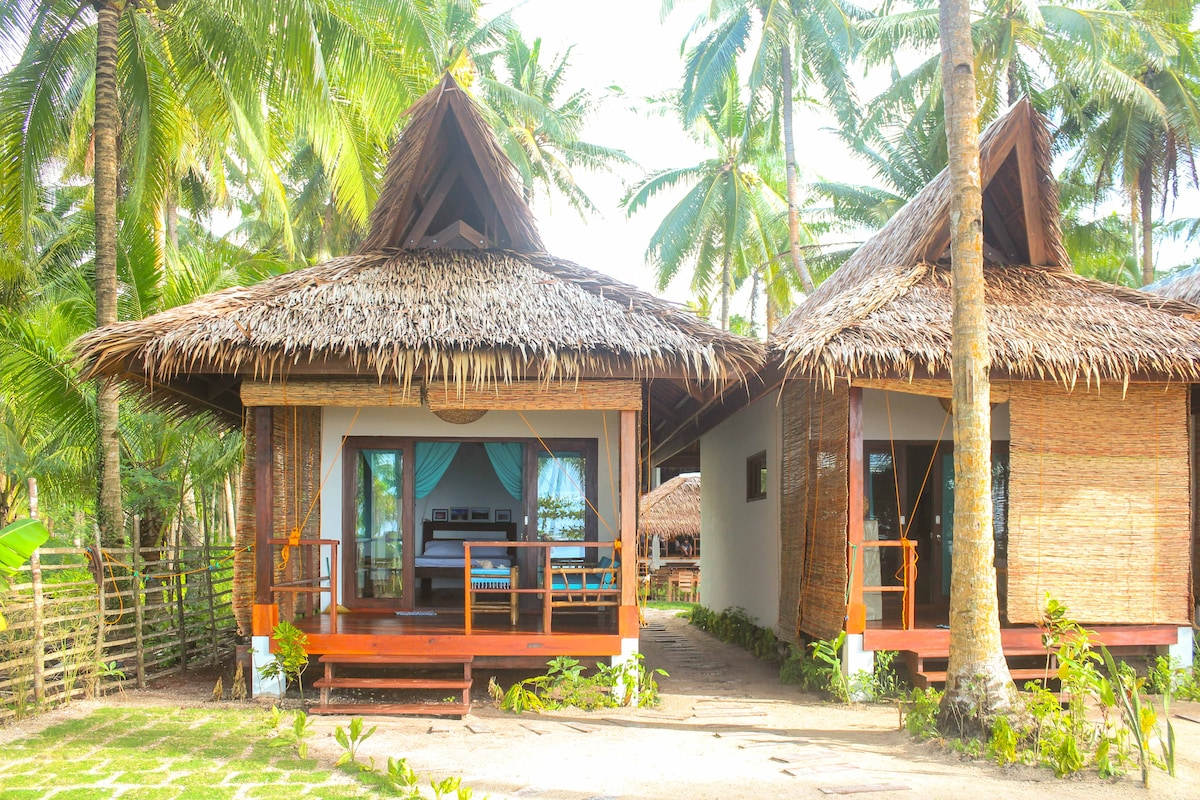 surfing carabao beach house 2 bungalows for rent in general luna
