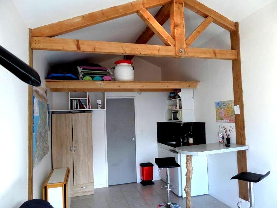 studio 18m² à 3km des plages wifi gratuit. - TARNOS - Appartamento