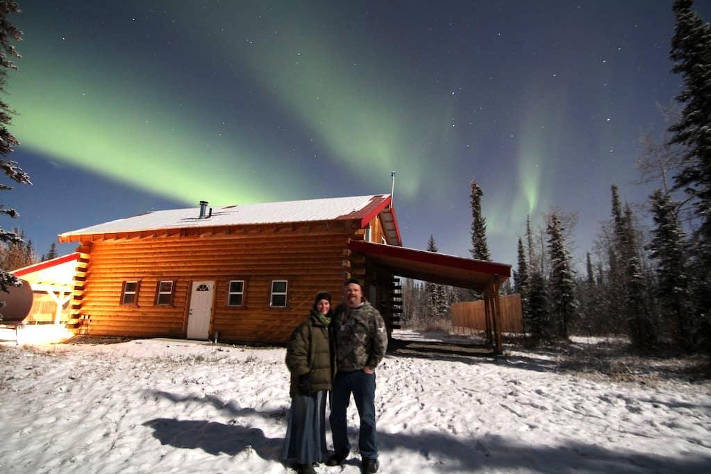 Alaska Aurora Adventures Cabin A - North Pole - Cabaña en la naturaleza