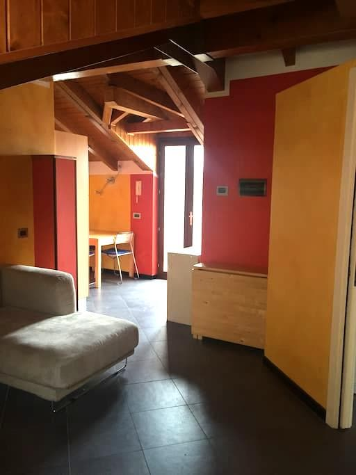Cozy attic in the city centre between the lakes - Borgomanero - Apartemen
