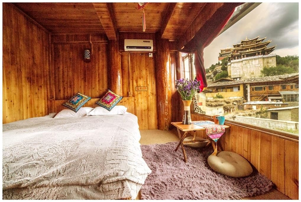 Tibetan Woody Double Room with View - 香格里拉 - Zomerhuis/Cottage