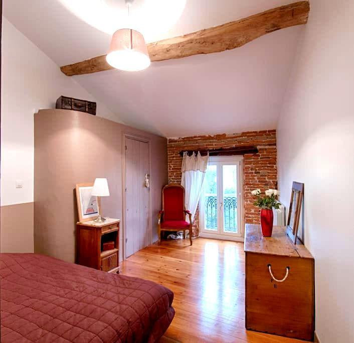 Chambre dans maison de village du 18ème siècle - Buzet-sur-Tarn - Ev