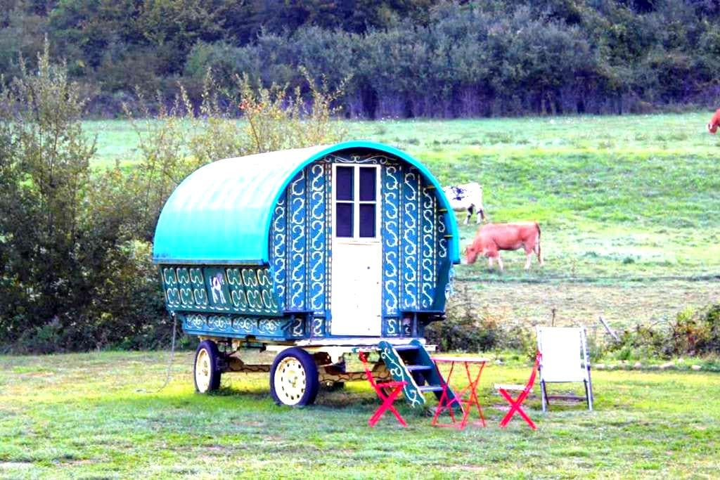 Traditional gypsy caravan in Dordogne - Anlhiac - Other