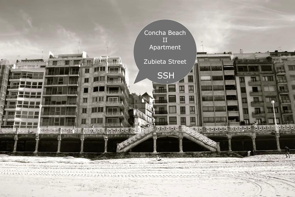 Apart.50m Concha Beach.Terrace&Wifi - Donostia - Lakás