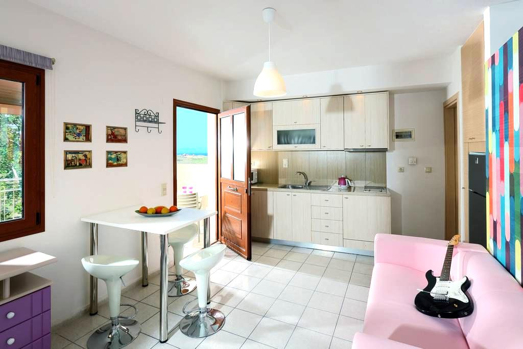 Charming retro studio with shared pool and view - Agia Pelagia