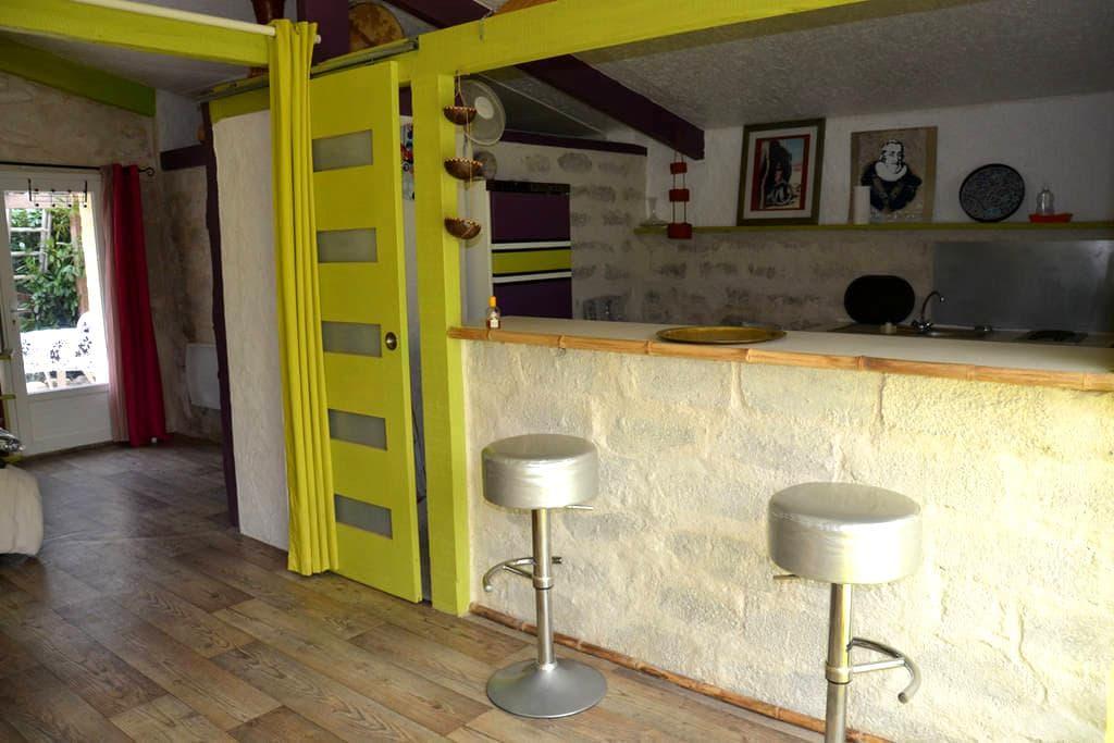 studio vue montagne et piscine - Montaut