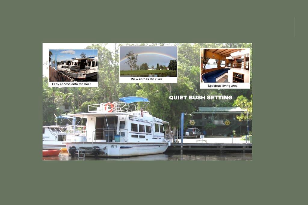 Houseboat Stay  45' for 2-10 people - Bulahdelah - Boot