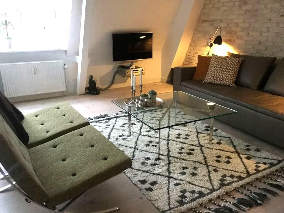 Central Roskilde - 85 m2 apartment + roof terrace - Roskilde - Leilighet
