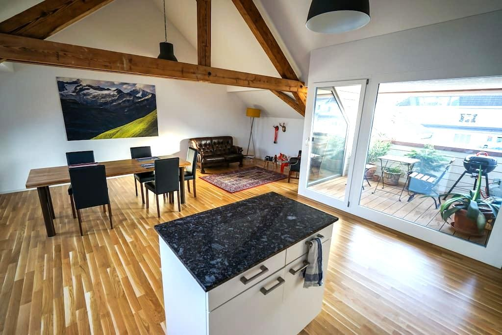 Centrally located rooftop flat - WIFI and Laundry - Lucerna - Apartament