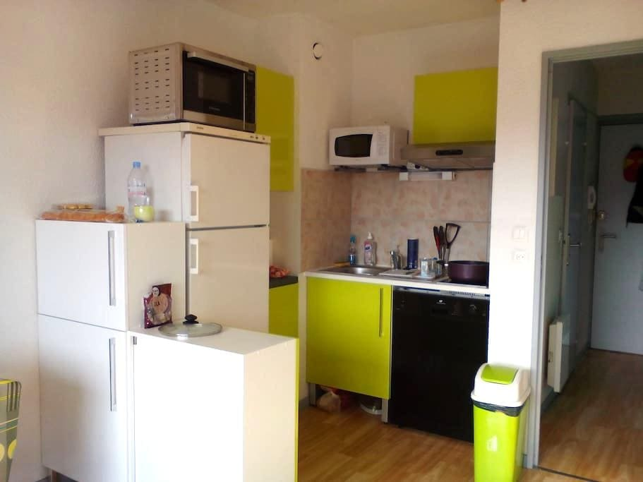 studio cabine veranda Expo Sud - Font-Romeu-Odeillo-Via - Apartament