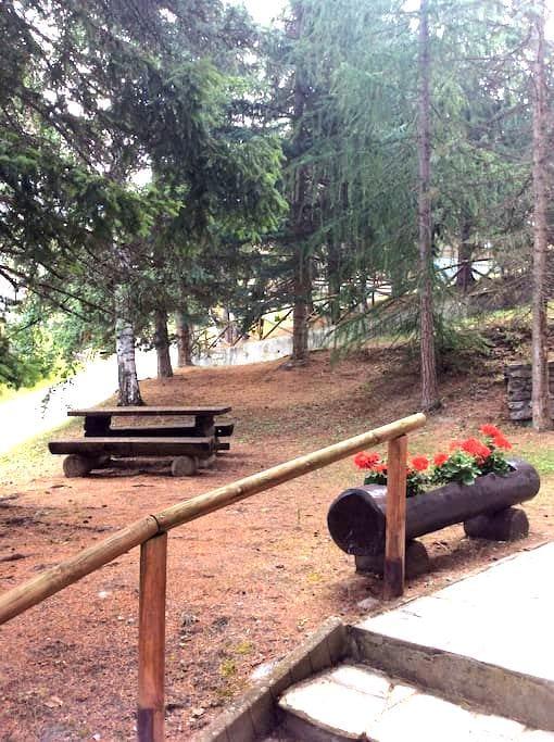 Monolocale con giardino, vicinissimo piste da sci. - Sauze d'Oulx - Apartamento