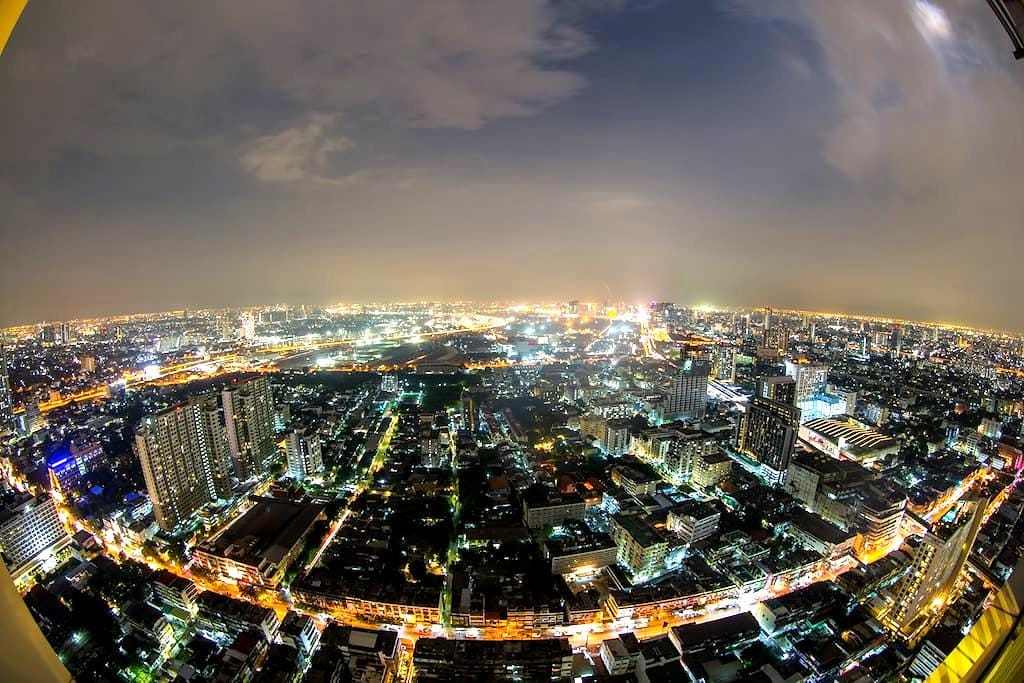 Luxury 2BR on MRT crazy view - Bangkok - Appartement