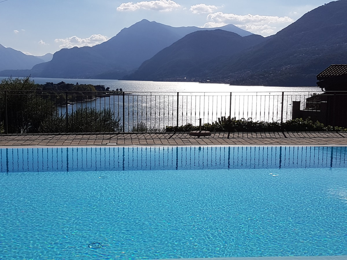 Lakeview apt with pool and garden apartments for rent in dervio lombardia italy
