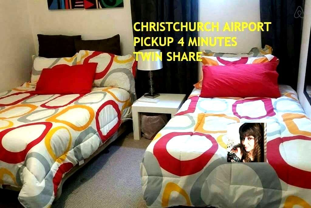 CH-CH AIRPORT 4'min away SOLO/ TWIN - Christchurch  - Bed & Breakfast