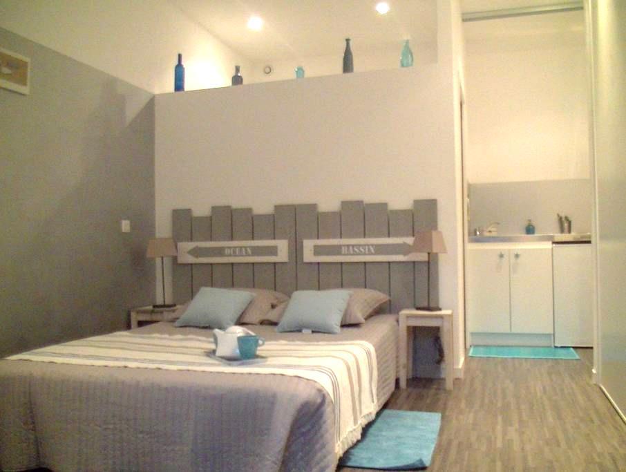 Studio centre ville calme 15m plage - Andernos-les-Bains