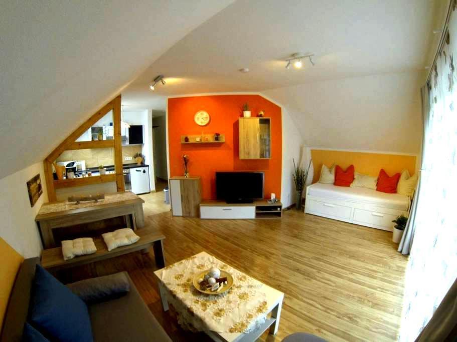 2-Zimmer FeWo - Modern & Gemütlich - Unterwellenborn - Apartamento